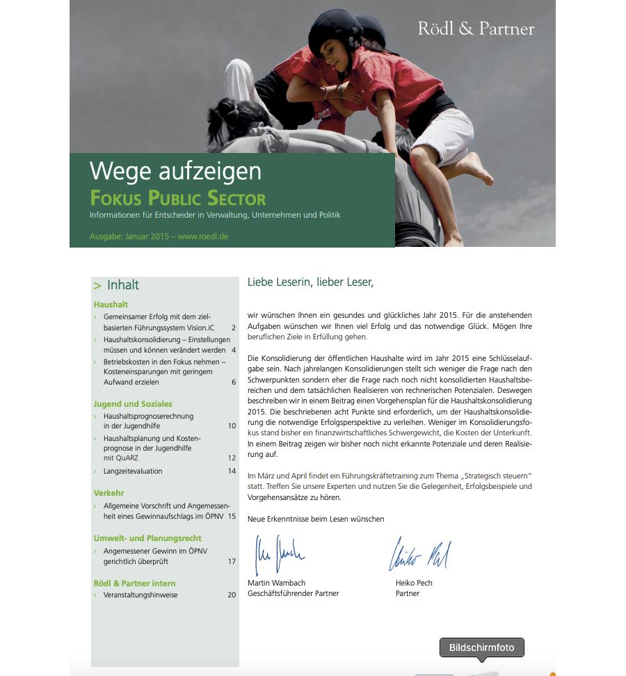 Gemeinsamer Erfolg mit dem zielbasierten Führungssystem Vision.iC (Rödl & Partner)