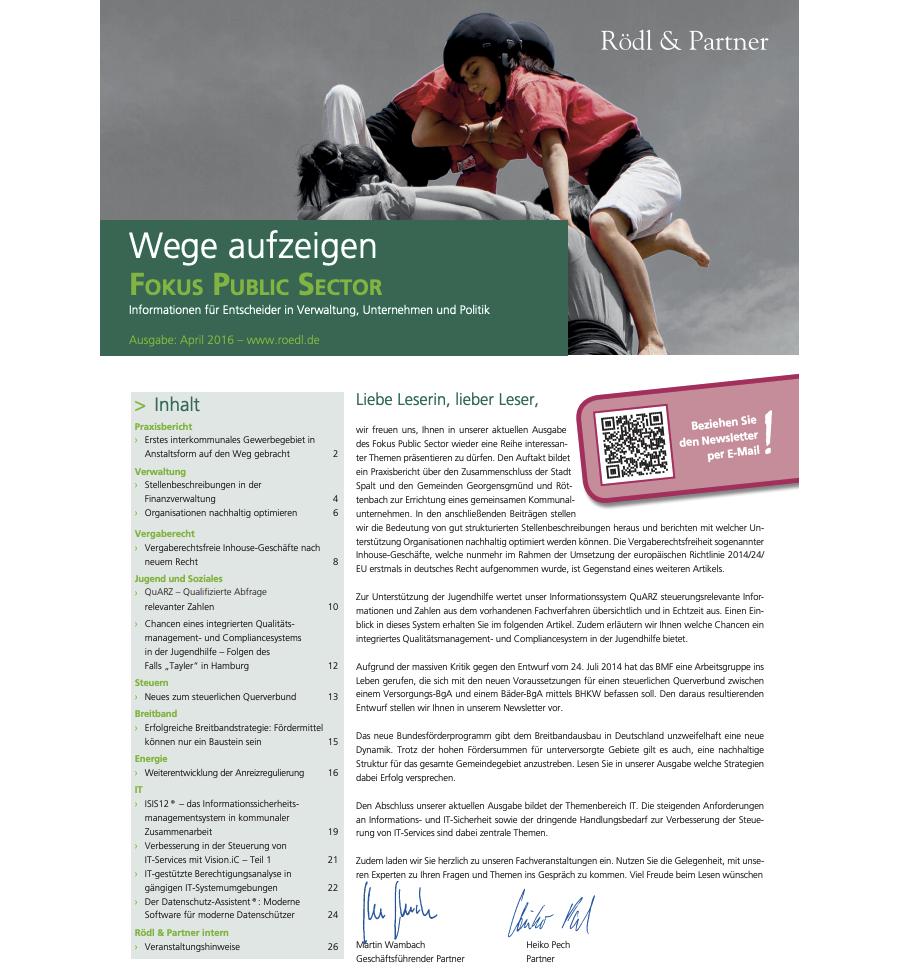 Organisationen nachhaltig optimieren (Rödl & Partner)