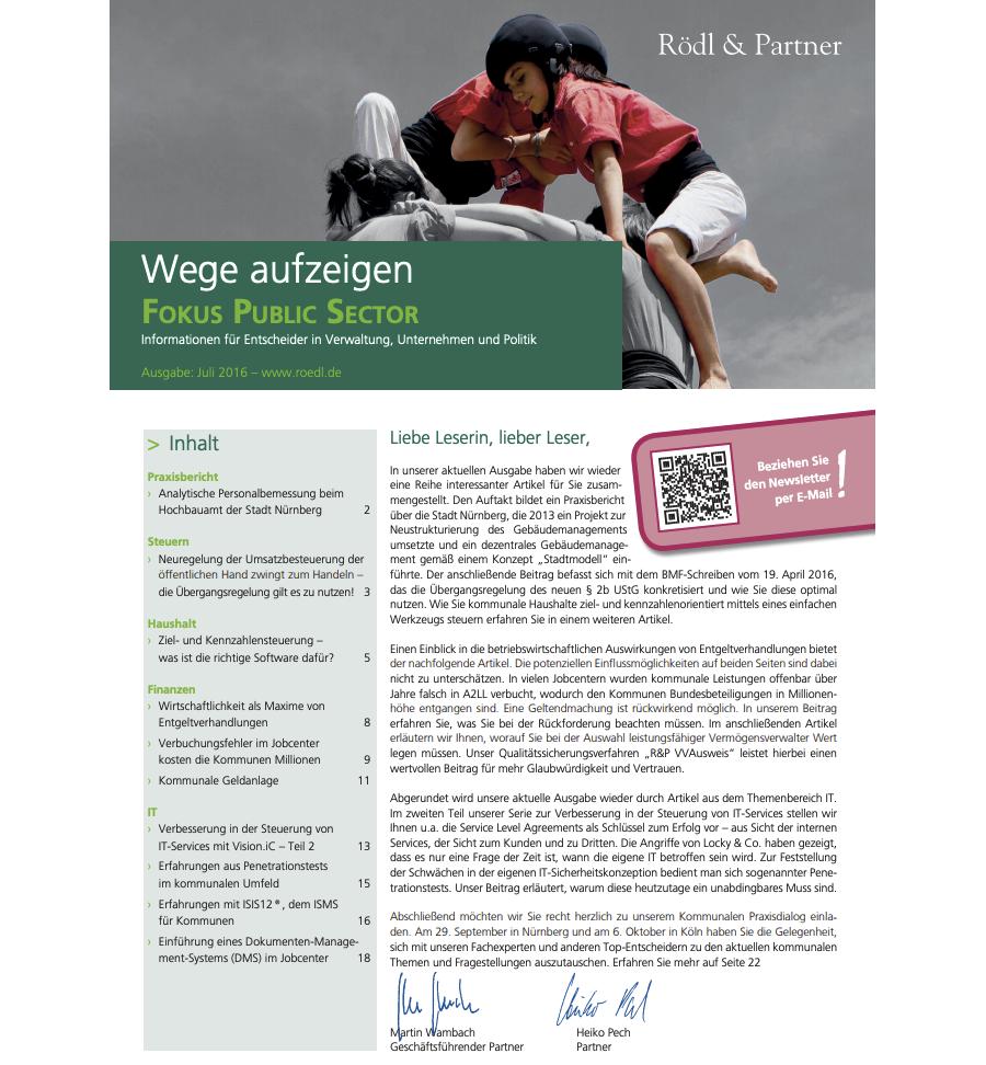 Ziel- und Kennzahlensteuerung (Rödl & Partner)