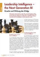 Leadership Intelligence - the Next Generation BI (Controller Magazin)