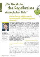 Die Quadratur des Regelkreises strategischer Ziele (Controller Magazin)